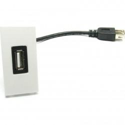 Priza USB 2.0 tip A 25x50 mm