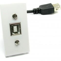 Priza USB 2.0 tip B d 25x50mm