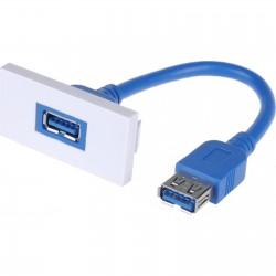 Priza USB 3.0 tip A  25x50mm